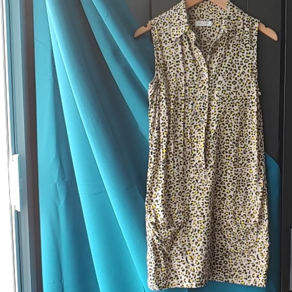 Equipment Dresses & Skirts - Equipment Lucida Silk Leopard Print Dress